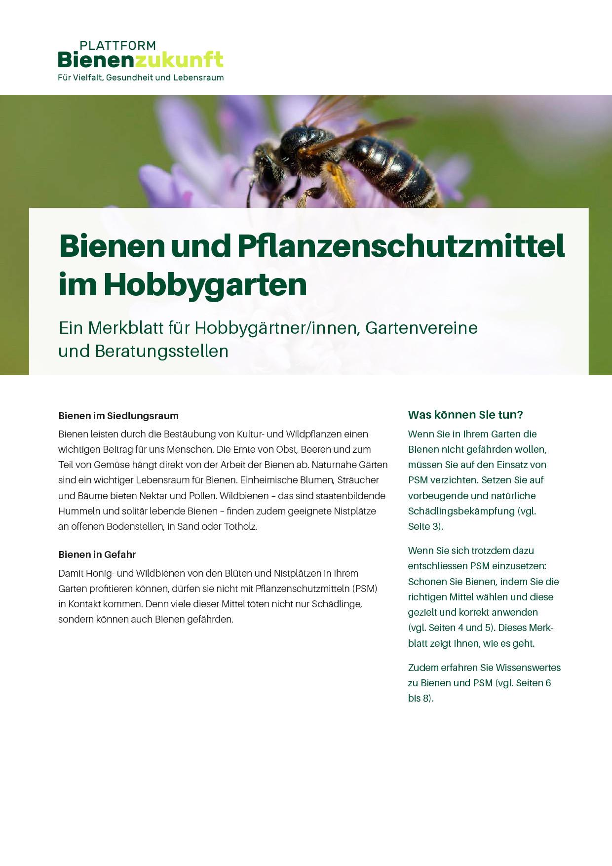 Mit Wissen und Praxistipps für Bienen mobilisieren.