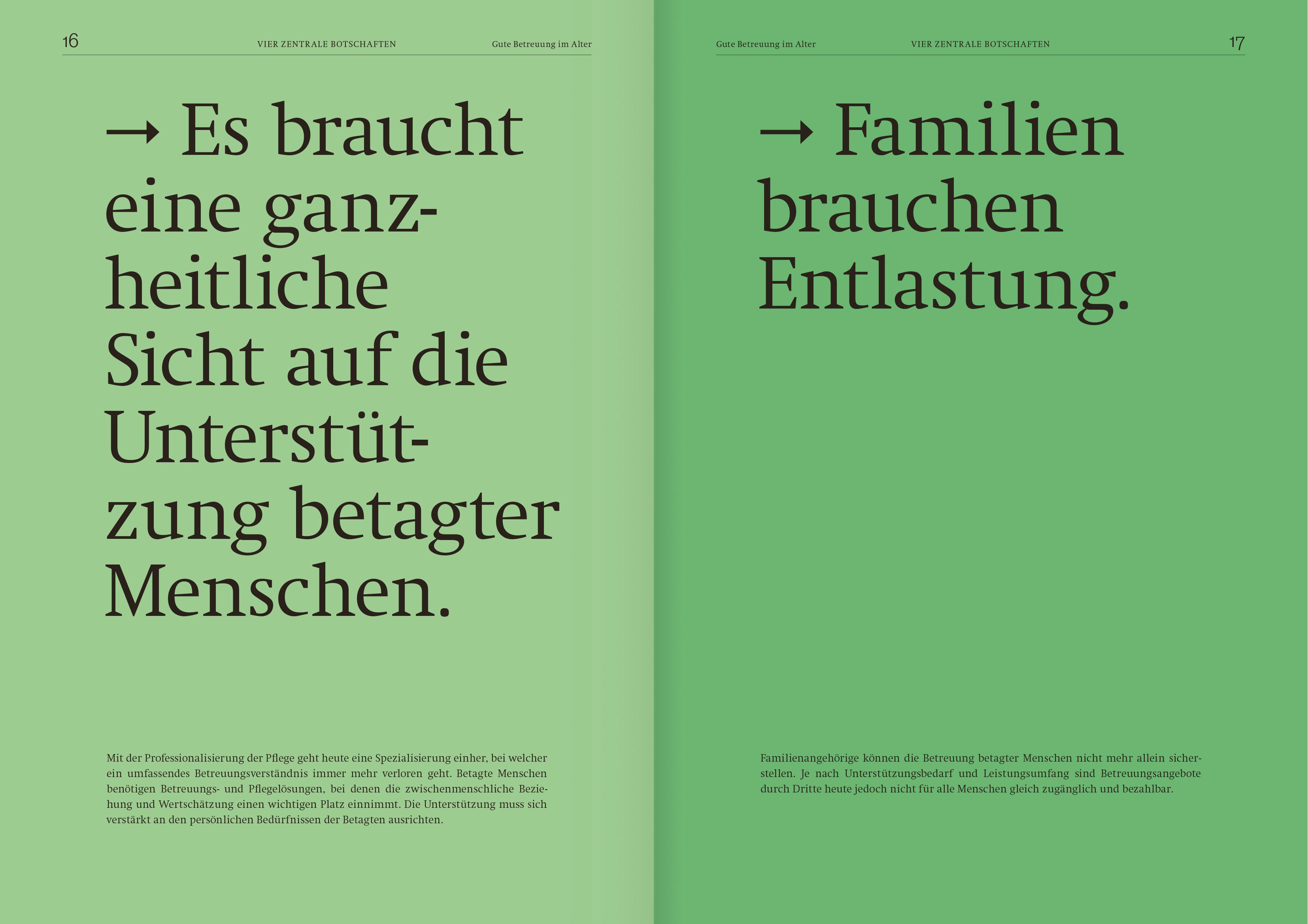 Das Thema Gute Betreuung im Alter in der Schweiz ins Gespräch bringen.