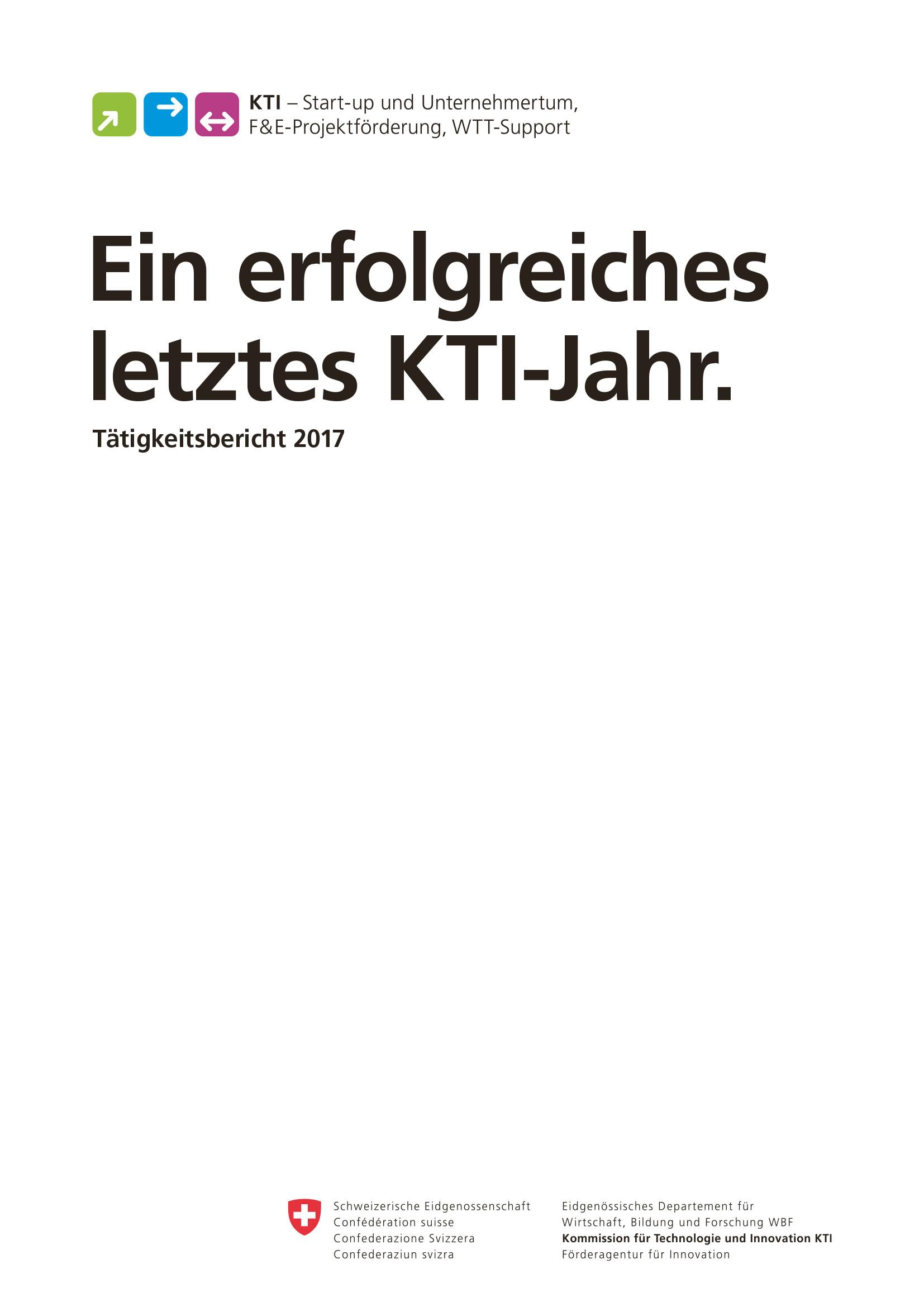 KTI als Schlüsselakteurin in der Innovationslandschaft.