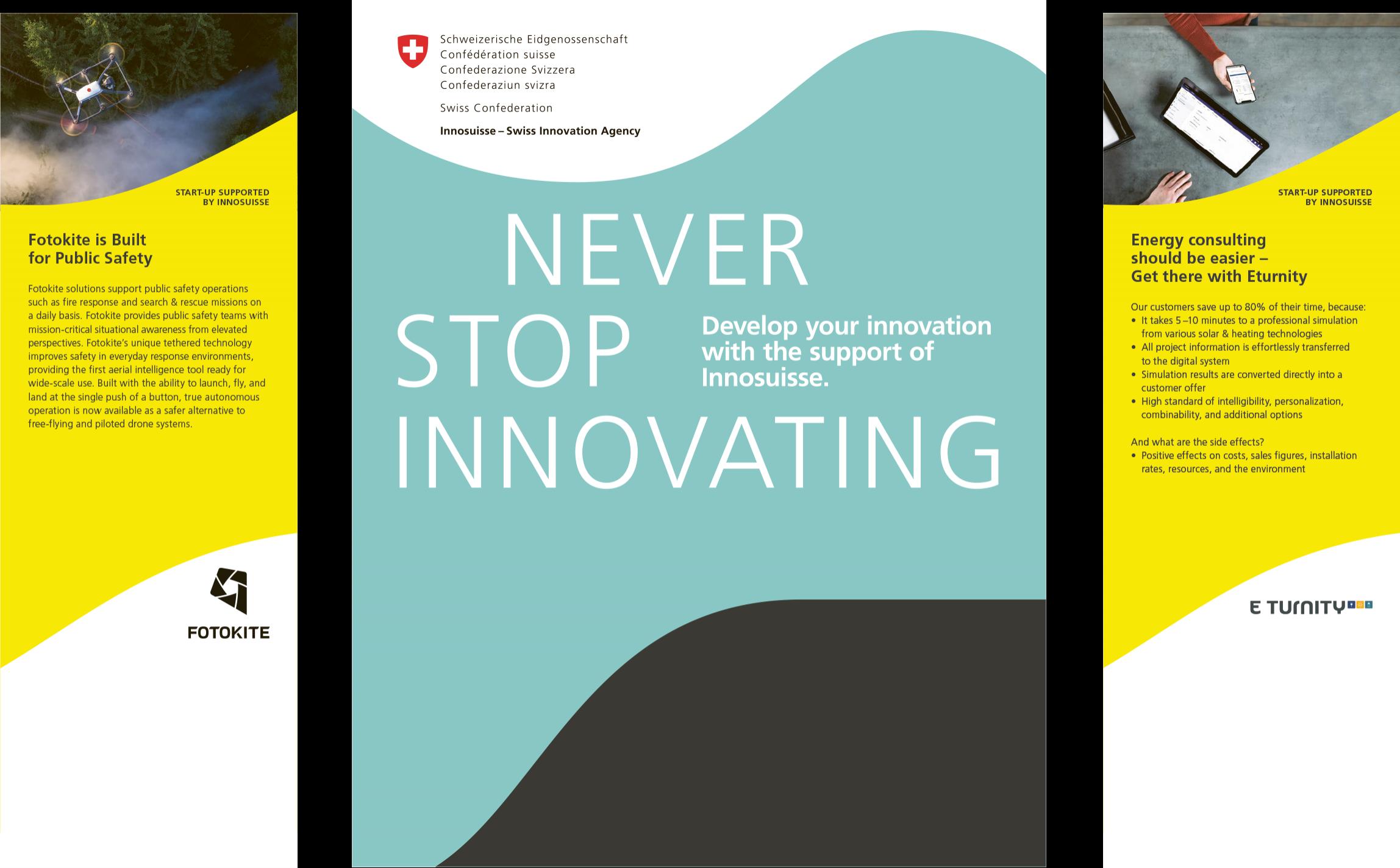 Unterstützungsangebote für innovative KMU und Start-ups rasch zur Hand.